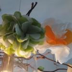 Blüten aus Servietten