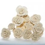 Keramik Rosen in gebrochenem Weiß