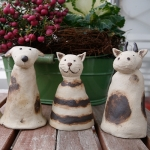 Keramik Zaungäste von isi-way.com