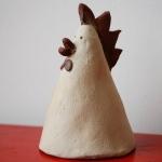 Keramik Zaungast Hahn von isi-way.com