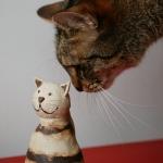 Keramik Zaungast Katze von isi-way.com