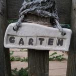 Keramik Gartenschild von isi-way.com