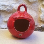 Keramik Vogel Futterhäuschen