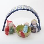 Keramik Krippe - Josef, Maria und Jesus