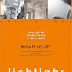 """Plakat """"lichtjahr"""""""