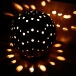 Keramik Lichtobjekt Kugel