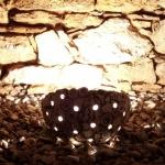 Keramik Lichtobjekt Halbkugel - Gewölbebeleuchtung