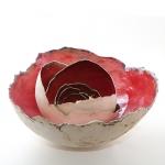 Keramik Lichtschalen - Rose