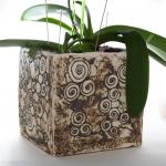 Keramik Orchideen Pflanzgefäß