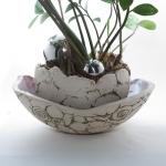 Keramik Pflanzgefäß mit Untersetzer