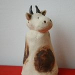 Keramik Zaungast Kuh