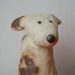 Keramik Zaungast Hund