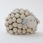 Keramik Schaf - Krippenfigur