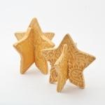 Keramik weihnachtliche Sterne