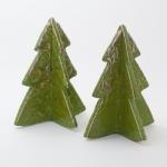 Keramik weihnachtliche Tannenbäume